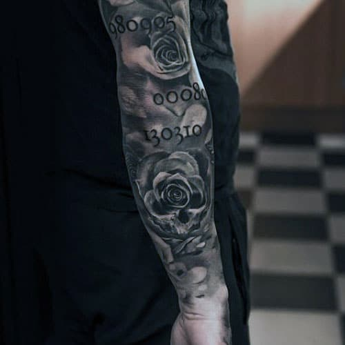 Rose Full Sleeve Tattoo