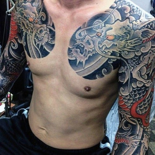 Two Full Sleeve Dragon Tattoo Designs