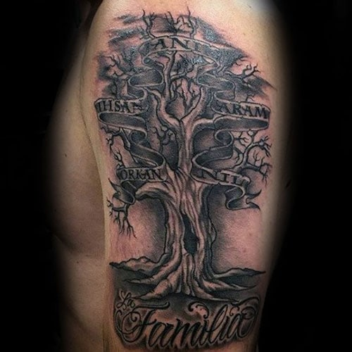 Family Tree Tattoo Ideas: 101 Best Family Tattoos For Men: Meaningful Designs