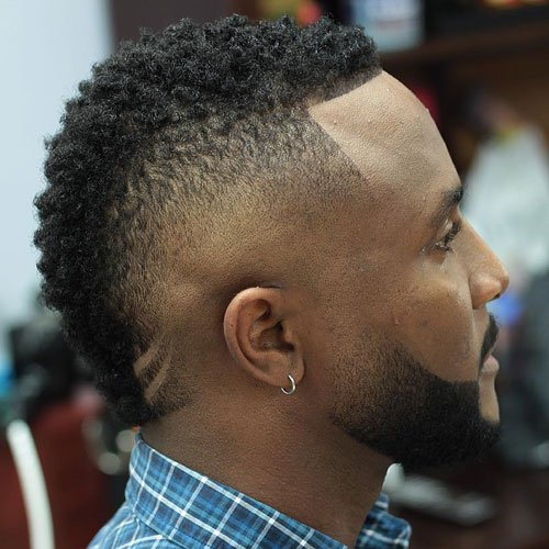 Mohawk Fade Haircuts For Black Men