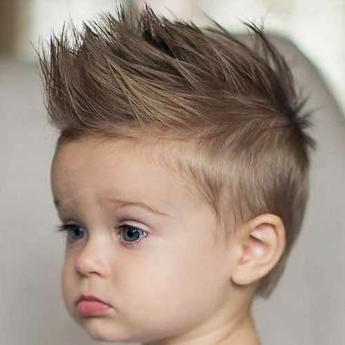 Baby Boy Haircuts - Short Sides with Spiked Up Hair on Top