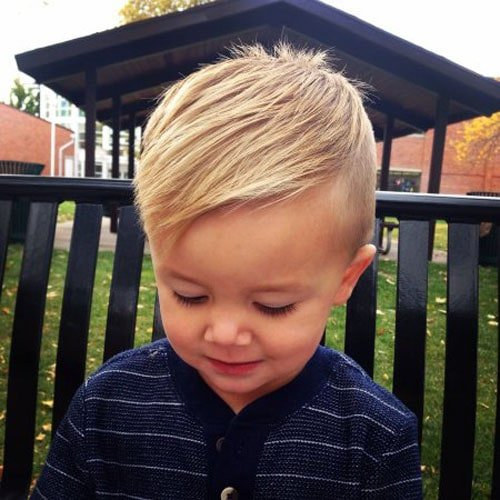 Baby Boy Haircuts - Undercut with Short Hair Fringe