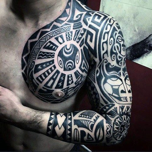 5fdbc250a5b32 101 Best Tribal Tattoos For Men: Cool Designs + Ideas (2019 Guide)