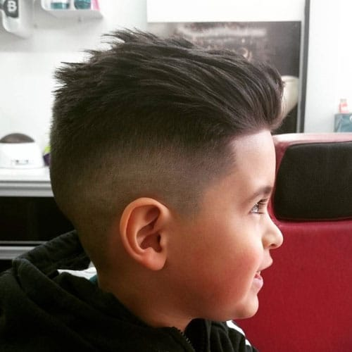Best Little Boy Hairstyles - Slicked Back Hair
