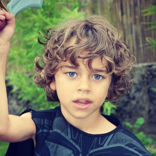 Best Long Hairstyles For Little Boys with Curly Hair