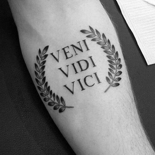 Best Simple Tattoos - Veni, Vidi, Vici