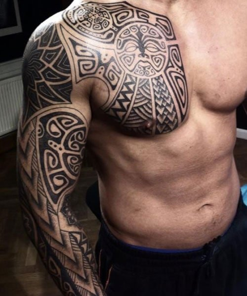 Best Tribal Chest, Shoulder and Arm Tattoos