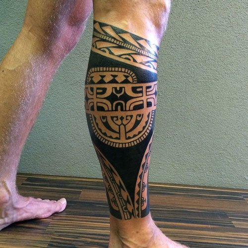Best Tribal Leg Tattoos