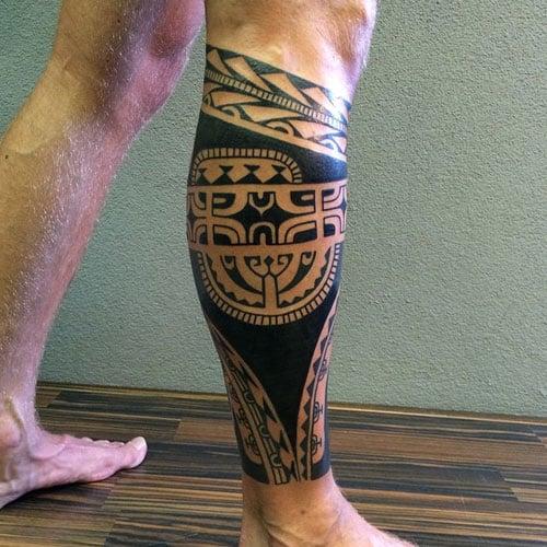 Best Tribal Leg Tattoos
