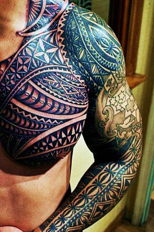 Best Tribal Tattoo Designs With Color