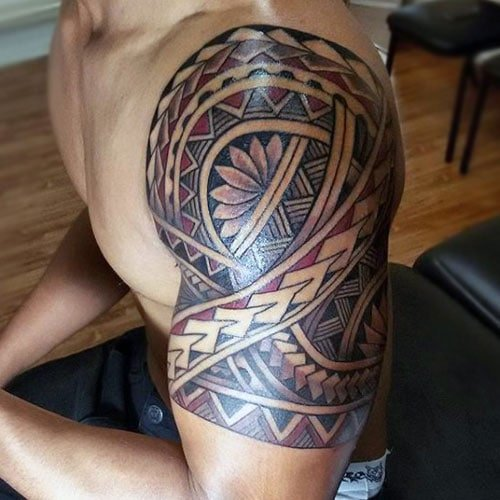 Tribal Tattoo With Color: 101 Best Tribal Tattoos For Men: Cool Designs + Ideas
