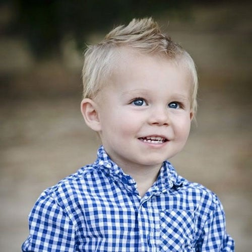 Cool Baby Boy Hairstyles - Faux Hawk with Short Sides
