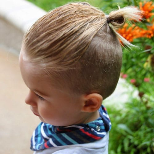 Cool Baby Boy Hairstyles - Ponytail For Long Hair