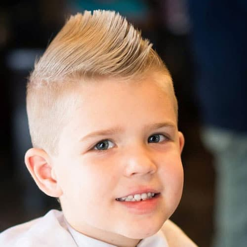 Cool Haircuts For Little Boys - Short Sides with Faux Hawk or Mohawk
