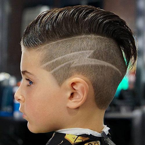 Cool Hairstyles For Little Boys - Slicked Back Undercut with Hair Design