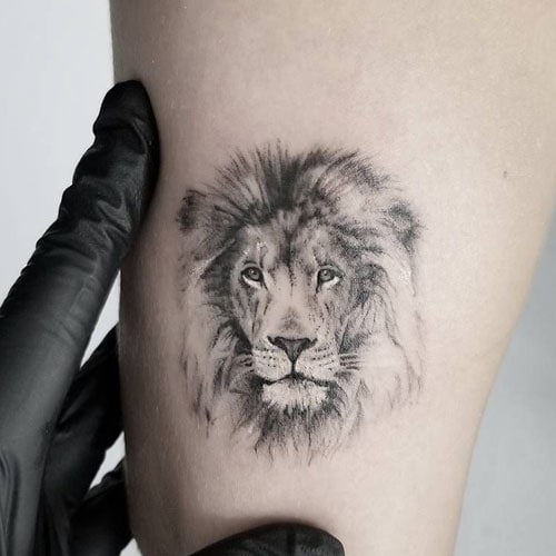 Cool Small Lion Tattoo For Men