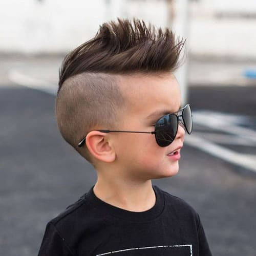 Cute Baby Boy Haircuts For 2 Year Old Kids - Mohawk with Shaved Sides