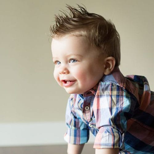 Infant Boy Hairstyles - Cute Faux Hawk