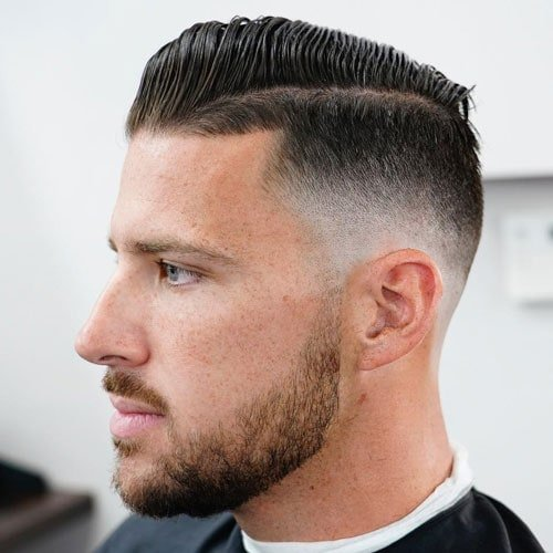 Men's Medium Fade Haircut
