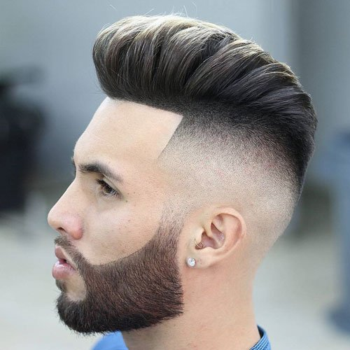 Pompadour Fade with Beard