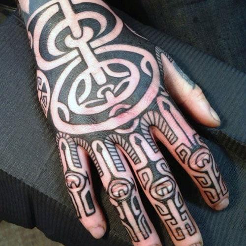 Tribal Hand Tattoos