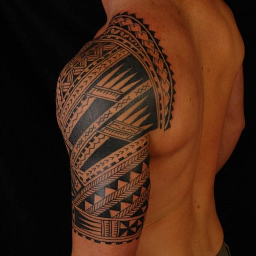 Tribal Tattoos For Guys on Shoulder and Arm