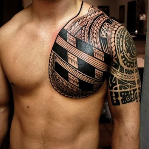 Unique Tribal Chest Tattoos