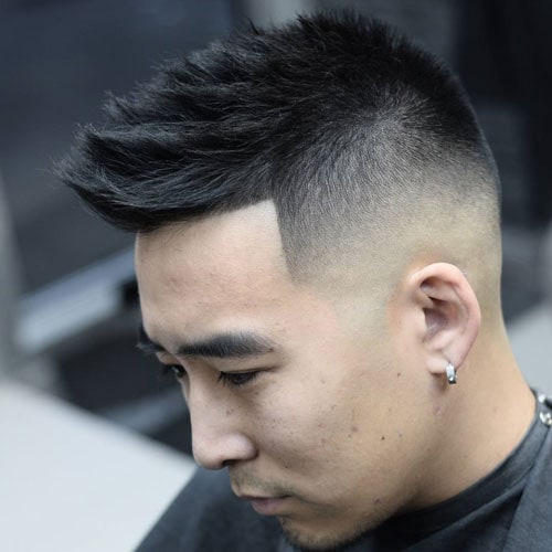 Asian Men Haircuts Faux Hawk Fade