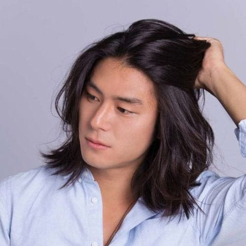 Asian Men with Long Hair