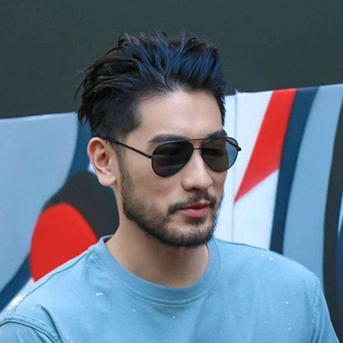 Asian Slick Back Hair