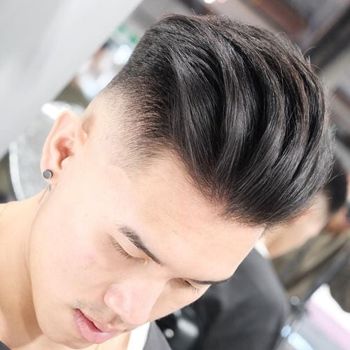 Asian Slicked Back Undercut