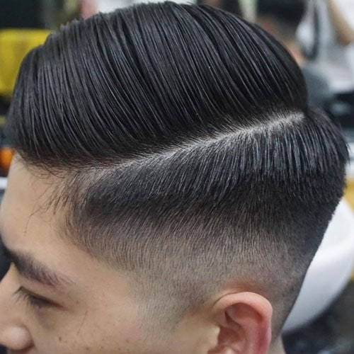 Cool Hard Side Part Fade For Asian Men