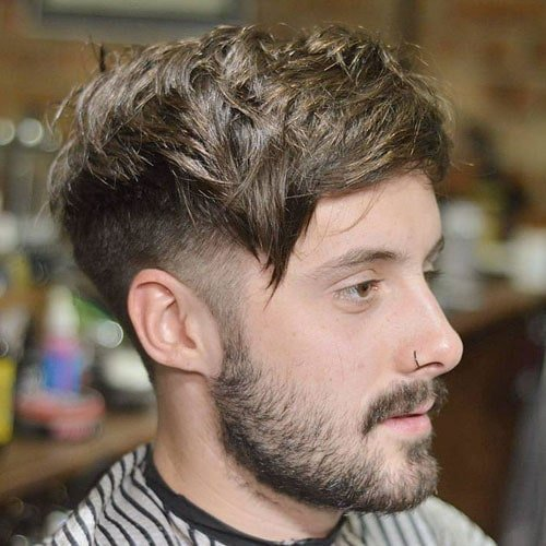 Messy Comb Over Hairstyle For Men