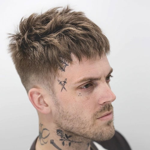 Messy French Crop Haircut Men