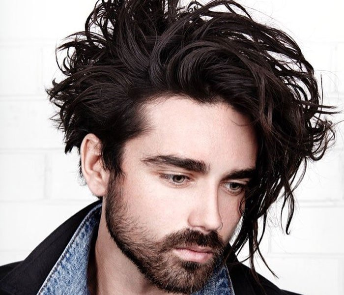 Messy Long Hairstyles Men