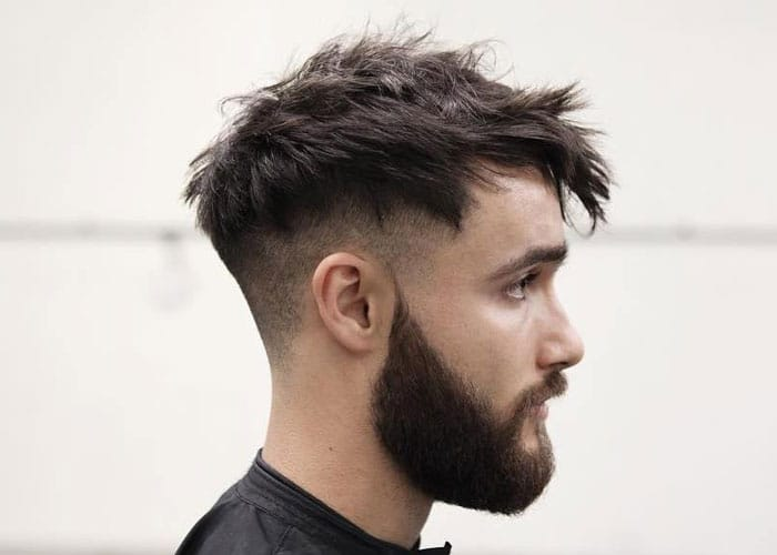 Messy Medium Hairstyles Men