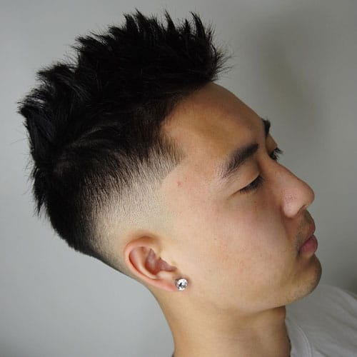 chinese man hair style 50 best asian hairstyles for 2019 guide 7240 | Spiky Hair Fade For Asian Men