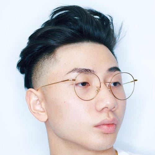 Textured Asian Hair Comb Back Fade