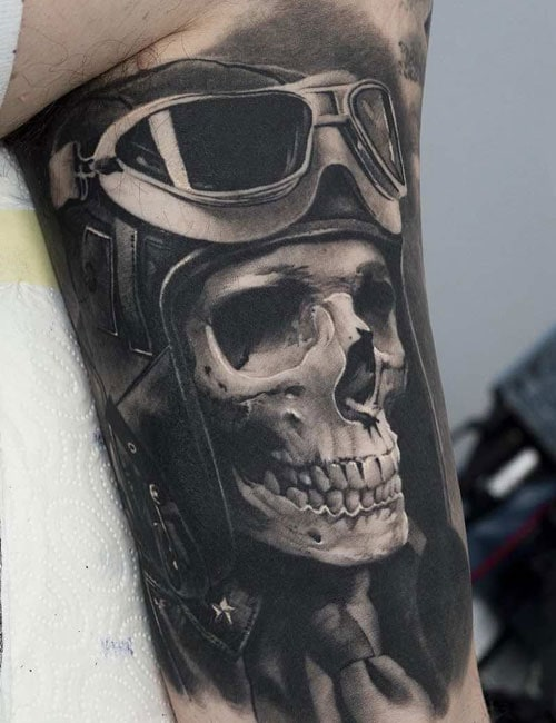 3D Skull Tattoo Designs