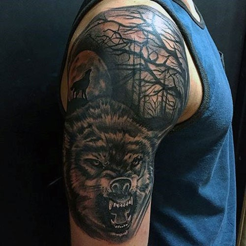 Alpha Wolf Tattoo