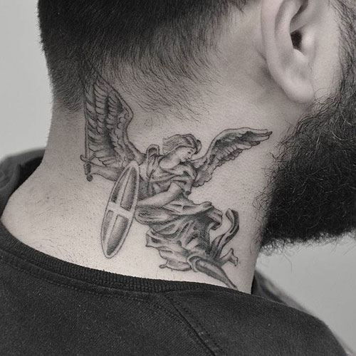 Angel Neck Tattoo