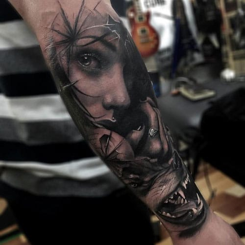 Awesome Wolf Tattoo Designs For Guys