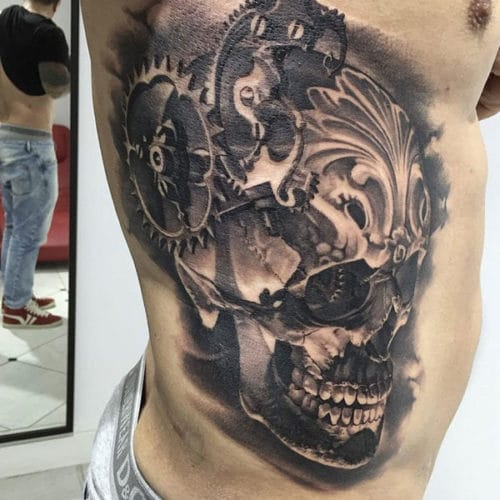 Badass 3D Skull Tattoo Designs For Guys