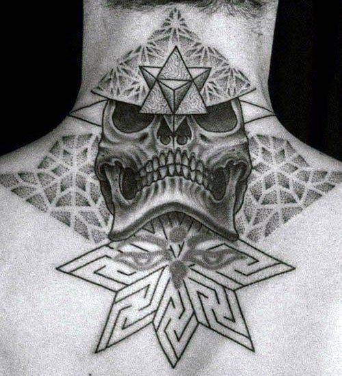 Badass Chest Neck Tattoos