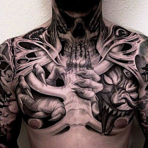 Badass Chest Tattoo Ideas For Guys