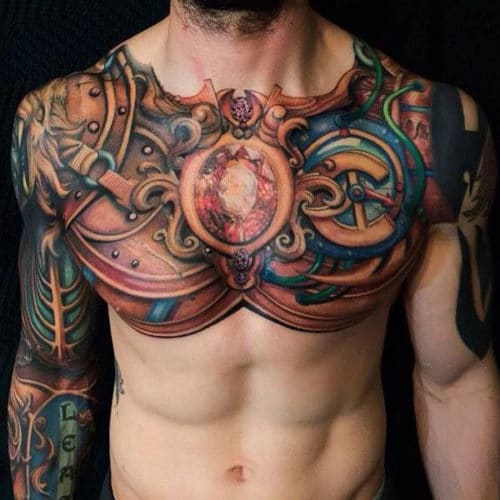 Badass Chest Tattoo