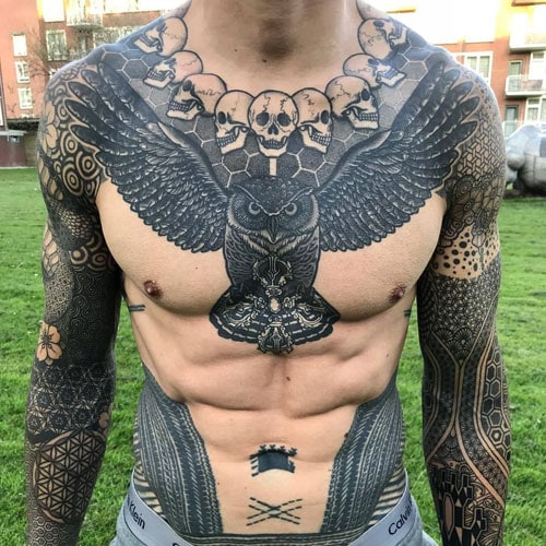 Badass Chest Tattoos