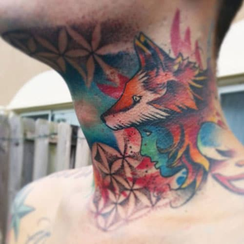 Badass Neck Tattoo Ideas