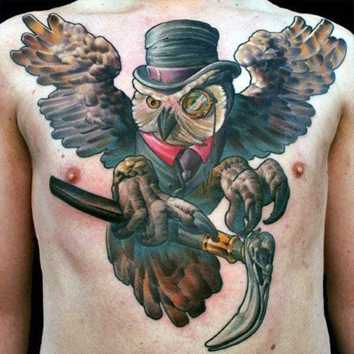 Badass Owl Tattoo Designs For Guys