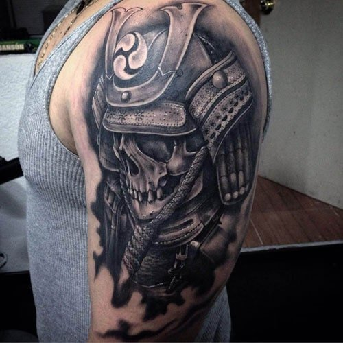 Badass Shoulder Skull Tattoo Designs